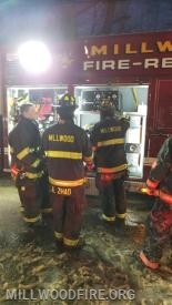 Structure fire in Irvington